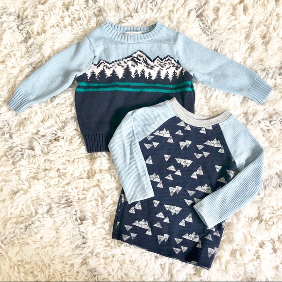 f267f325 Old Navy Shirts & Tops   Mountain Graphic Sweater And Thermal   Poshmark